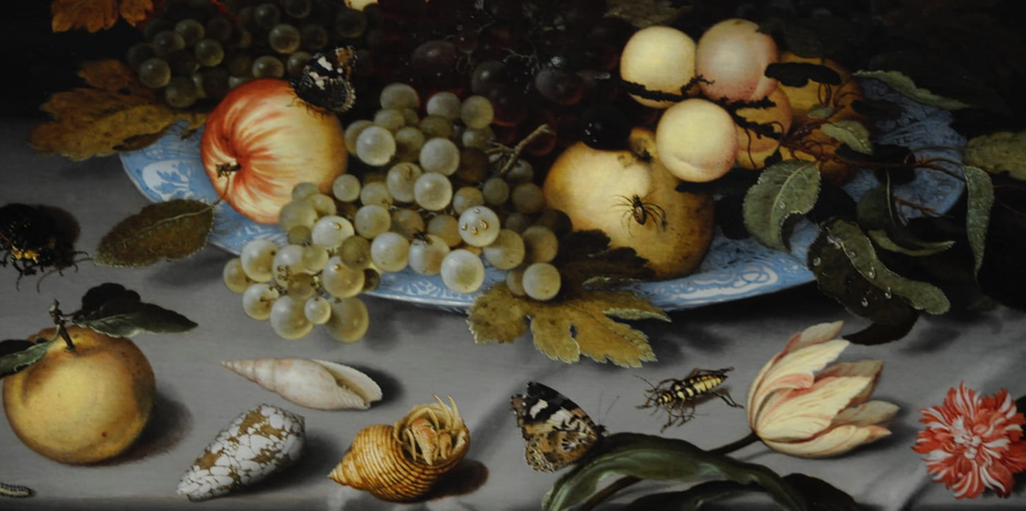 Natura morta con frutta e molluschi