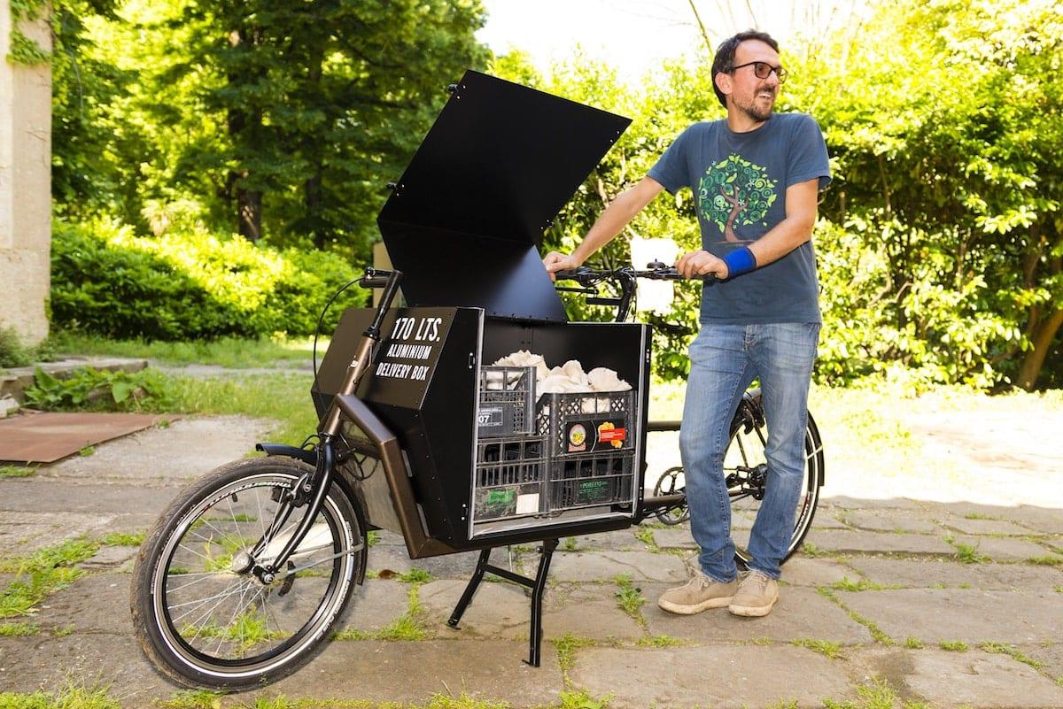 Antonio di Giovanni e la sua Cargo Bike