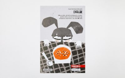 Una cartolina illustrata Zanichelli