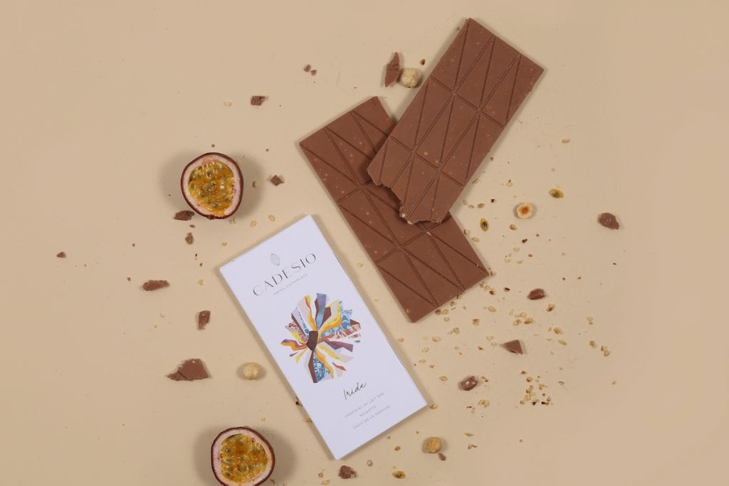 Cioccolato al latte con frutto della passione di Cadesio