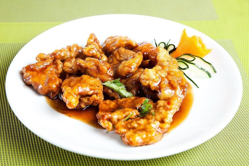 filetti di maiale croccanti in salsa agrodolce di soia Sinosteria