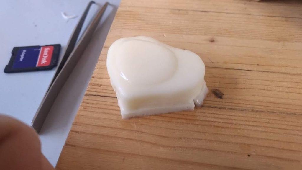 Il gelato appena stampato con la stampante 3d