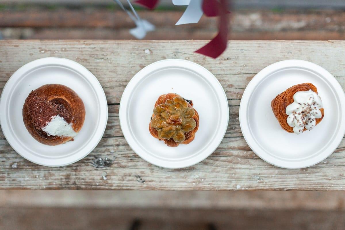 Tre dessert al piatto de Le Polveri