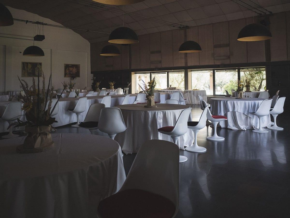 Il ristorante dell'agriturismo Costantino