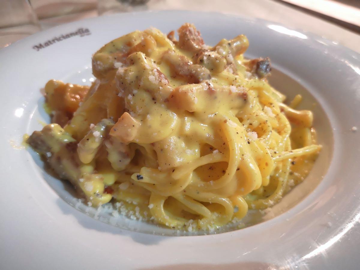 Ecco dove mangiare la migliore carbonara di Roma: Matricianella