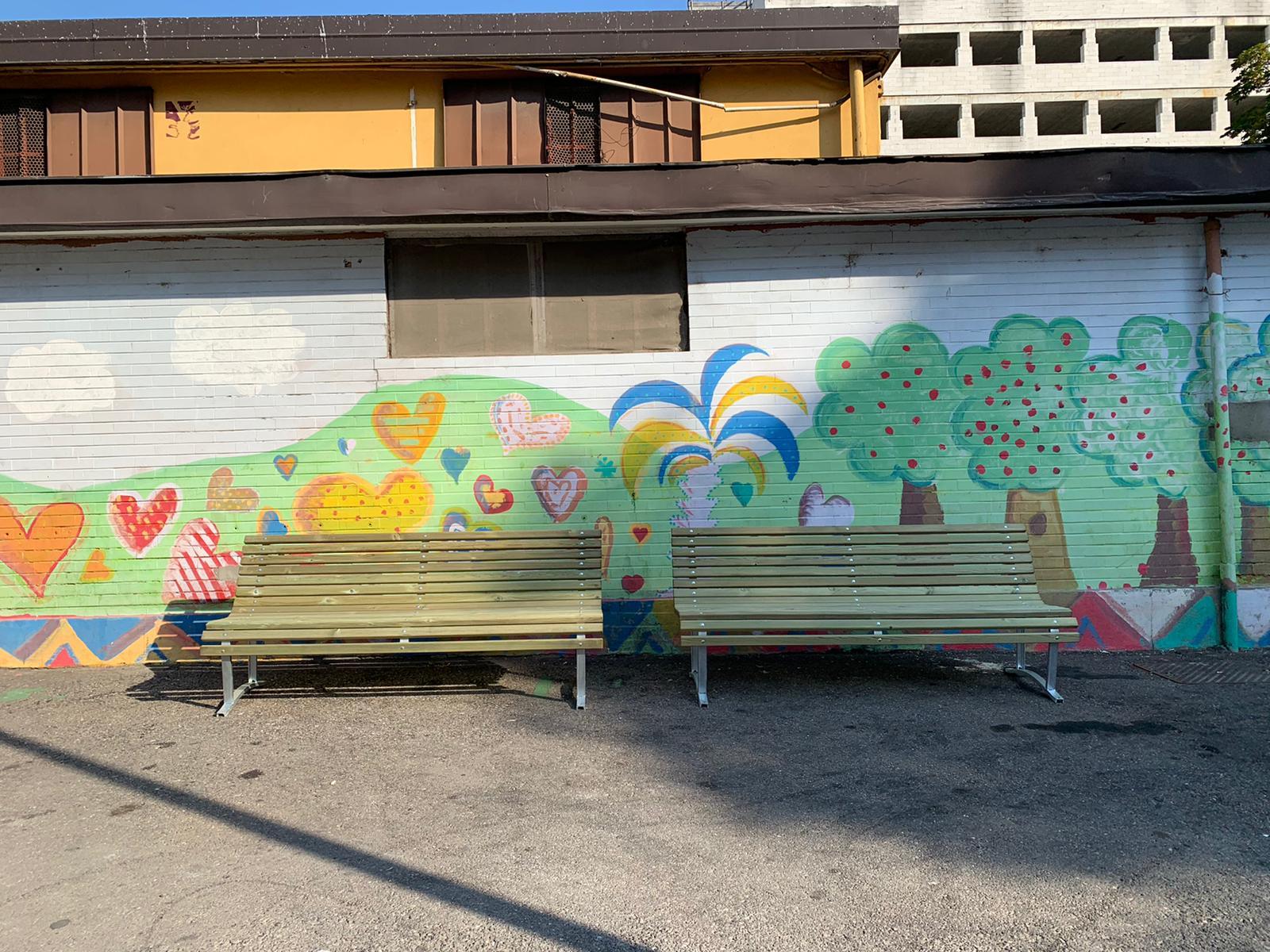 Murales al mercato di Corvetto