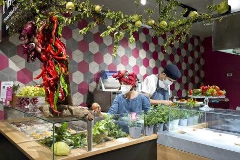 Il banco vegetale al Mercato Centrale di Torino