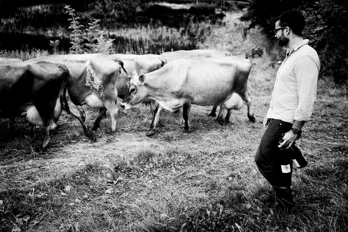 Christian Puglisi nella sua farm