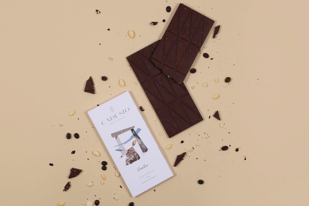 Tavoletta di cioccolato fondente Cadesio