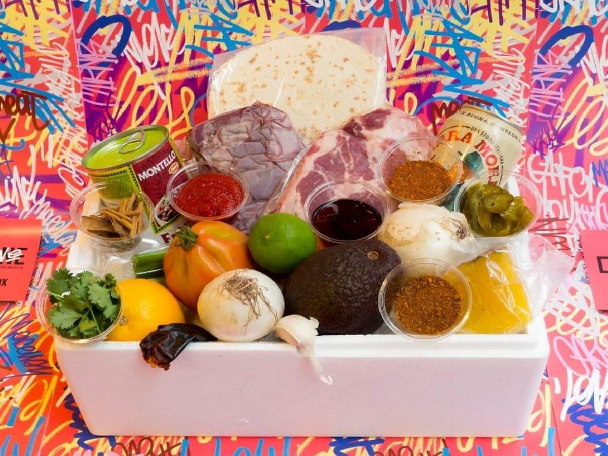 Special box di carne a domicilio con ingredienti assortiti