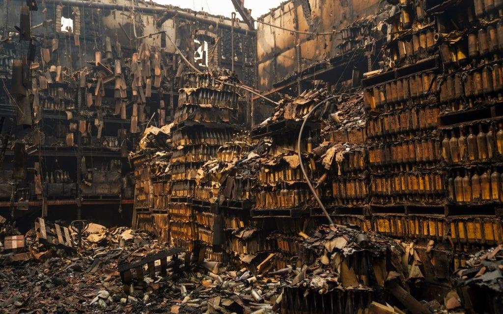 Bottiglie distrutte al Castello di Amorosa