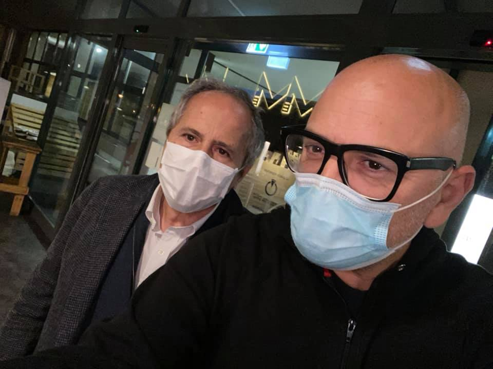Davide Marchiori e il professor Crisanti