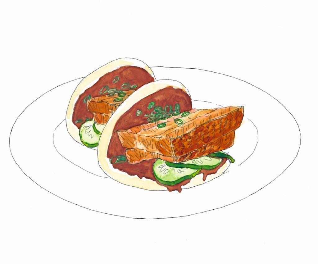 Panini ripieni di carne di maial pork buns dal libro Quando un piatto fa storia