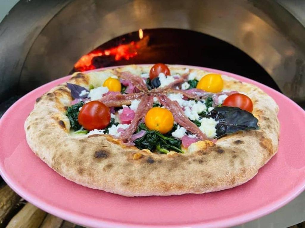 la pizza di Sabrina Bianco di Borgo Rosso di Sera