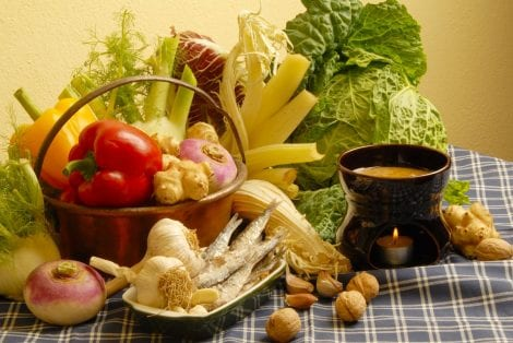 Ingredienti per la bagna cauda