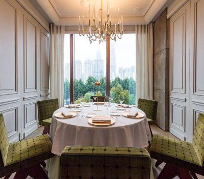 Tavolo con vista da Da Vittorio a Shangai