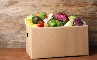 scatola di verdure