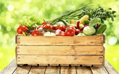cassetta di frutta e verdura