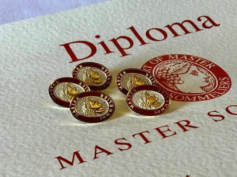 diploma e spilla master sommelier