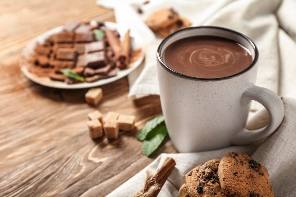 tazza di cioccolata calda