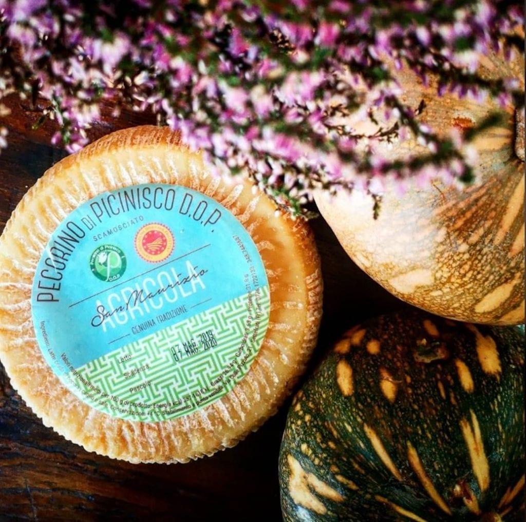 Pecorino Picinisco della azienda Agricola San Maurizio di Maria Pia small cheese producer