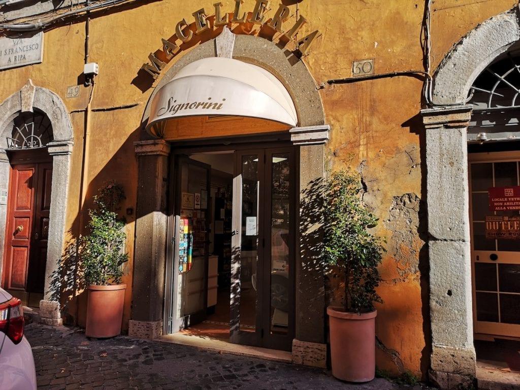 Roma Trastevere Macelleria Signorini