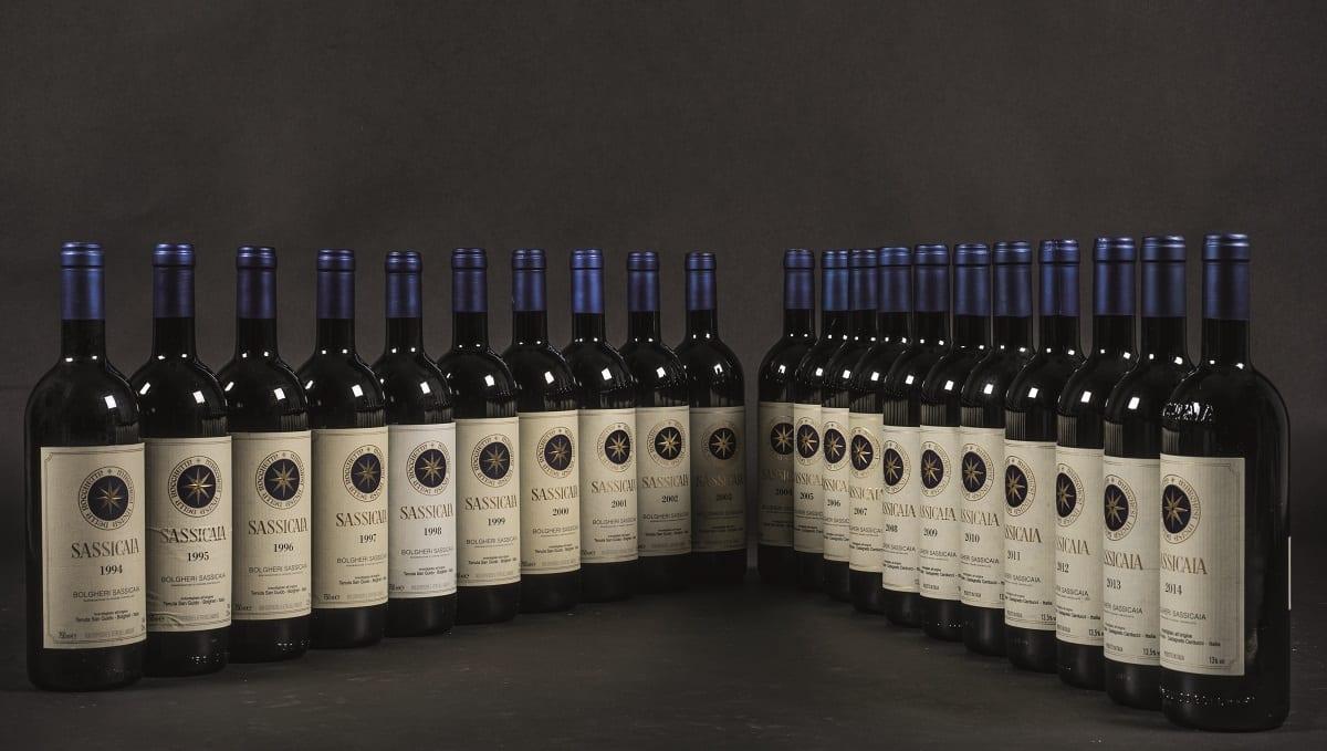 Bottiglie di Sassicaia