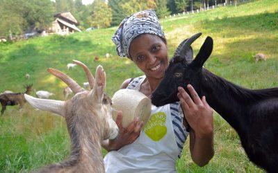 Agitu Gudeta con le sue capre