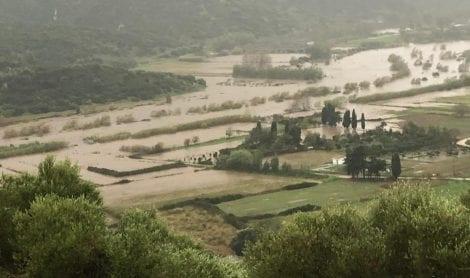 Campi allagati in Sardegna