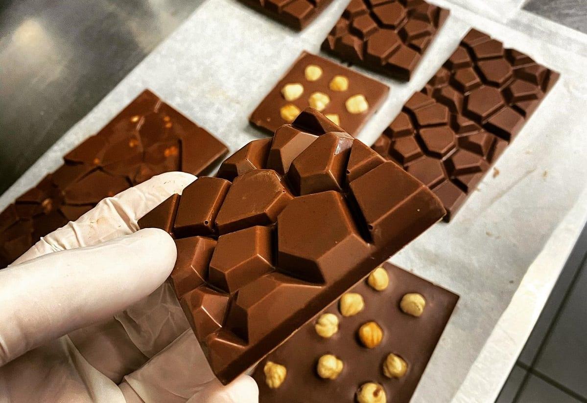 Lavorazione delle tavolette di cioccolato