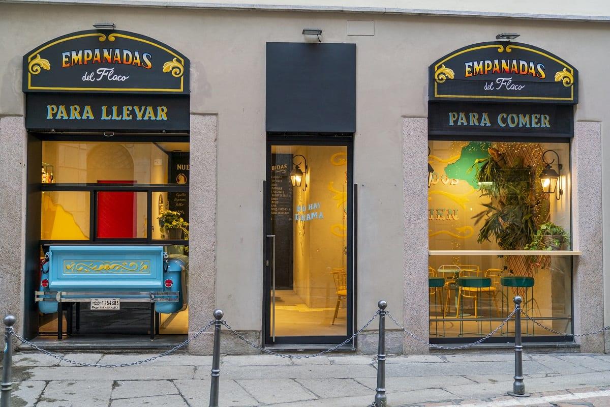 Le vetrine di Empanadas del Flaco