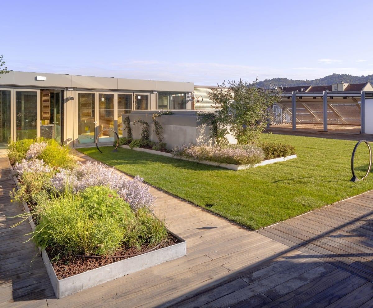 Il giardino sul tetto di Green Pea