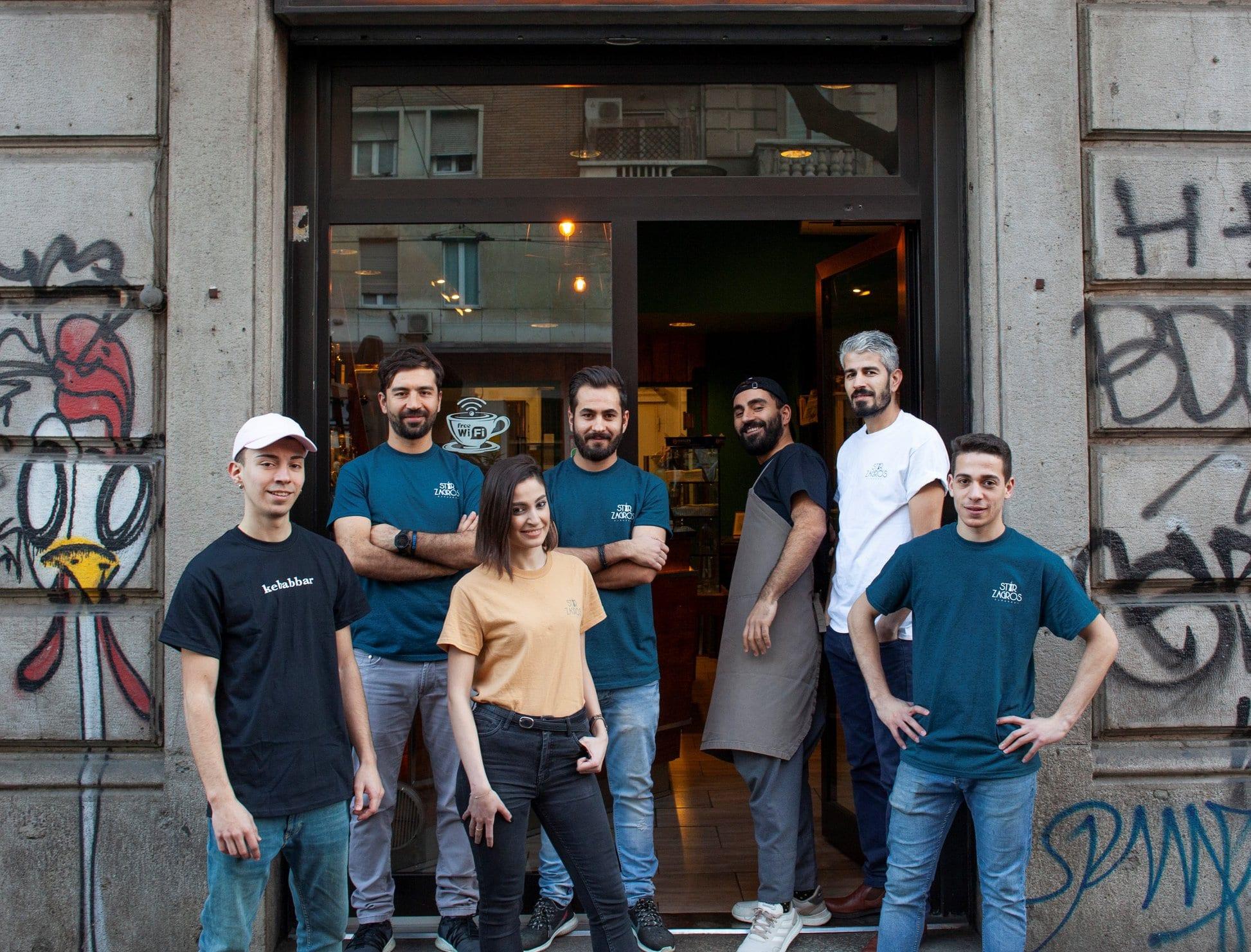 Team di Kebabbar a Milano