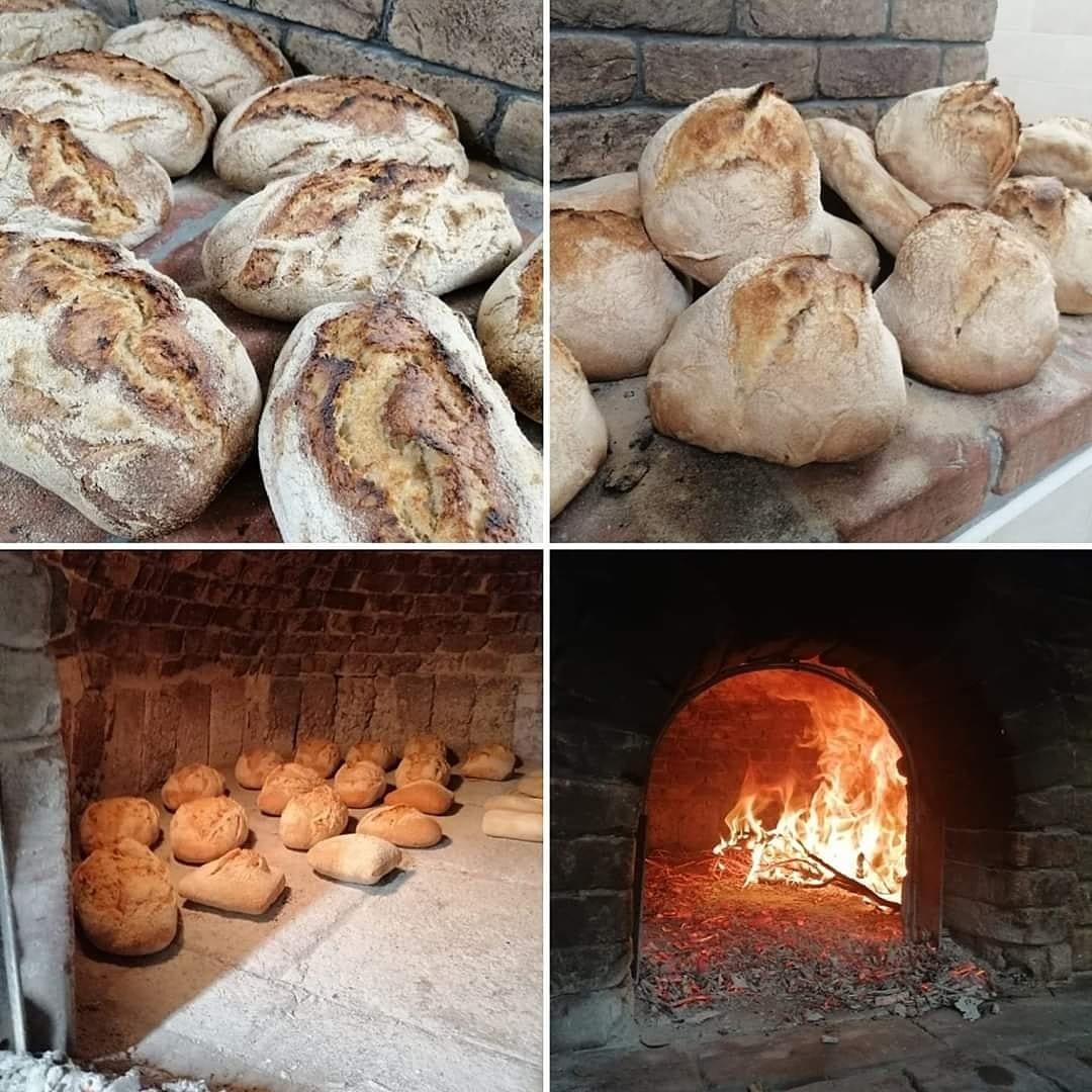 Cottura del pane in forno a legna