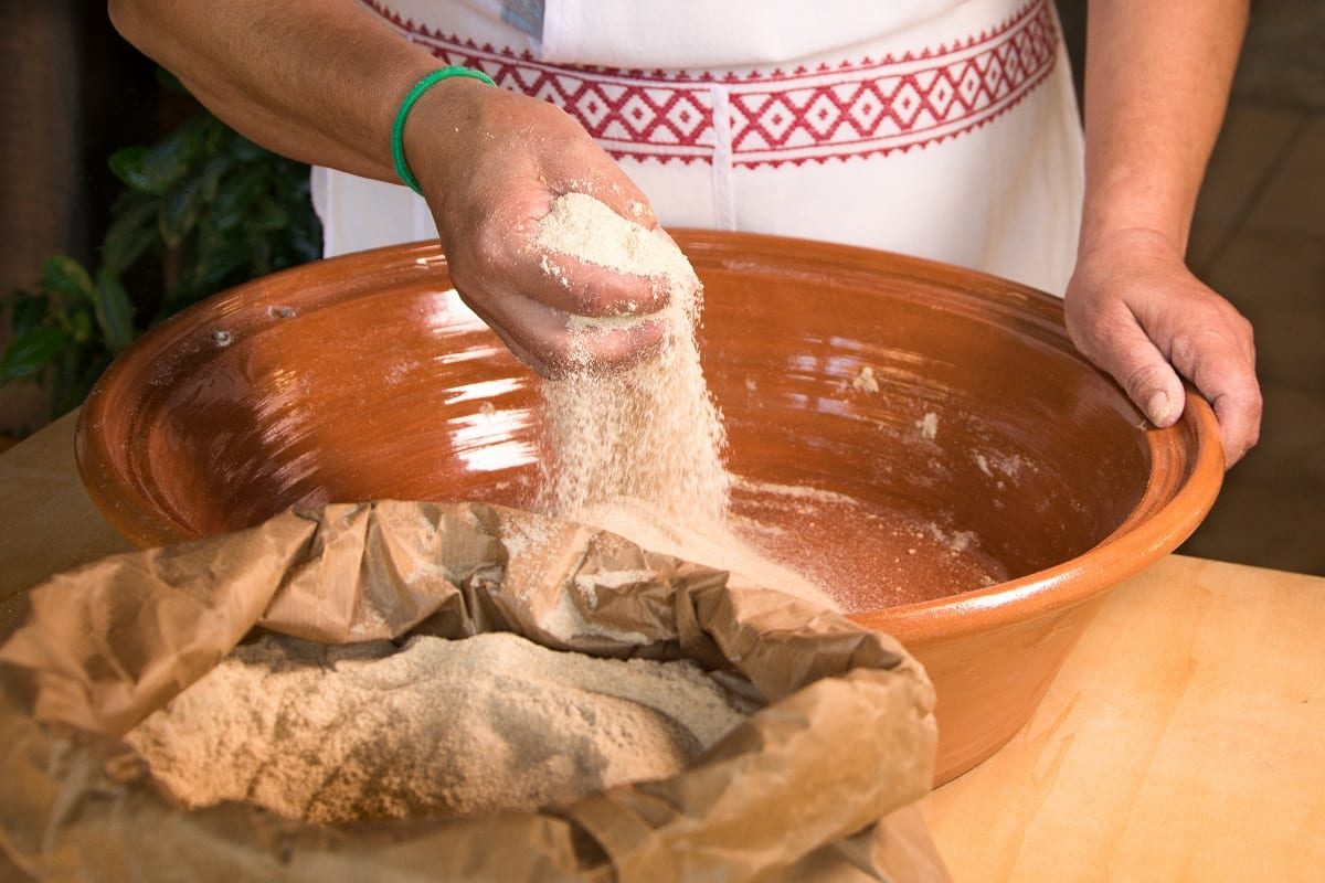 Lavorazione della semola per il pane