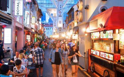 Il mercato di Chinatown a Singapore
