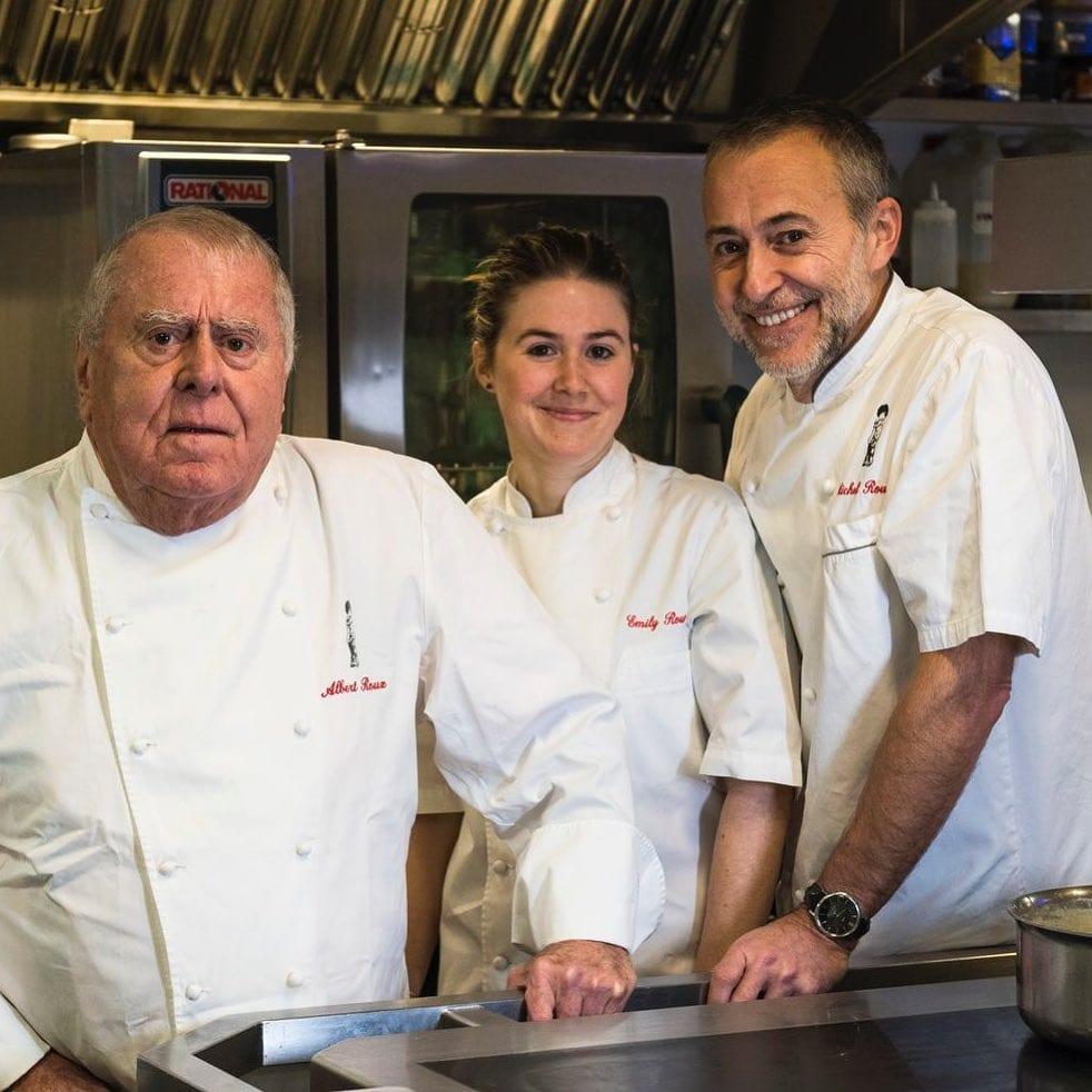 Albert Roux con Michel Jr ed Emily