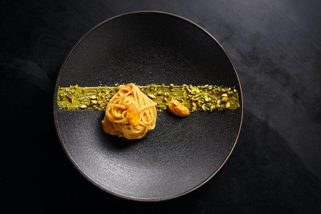un secondo piatto del ristorante la scala di shanghai chef antonio corsaro
