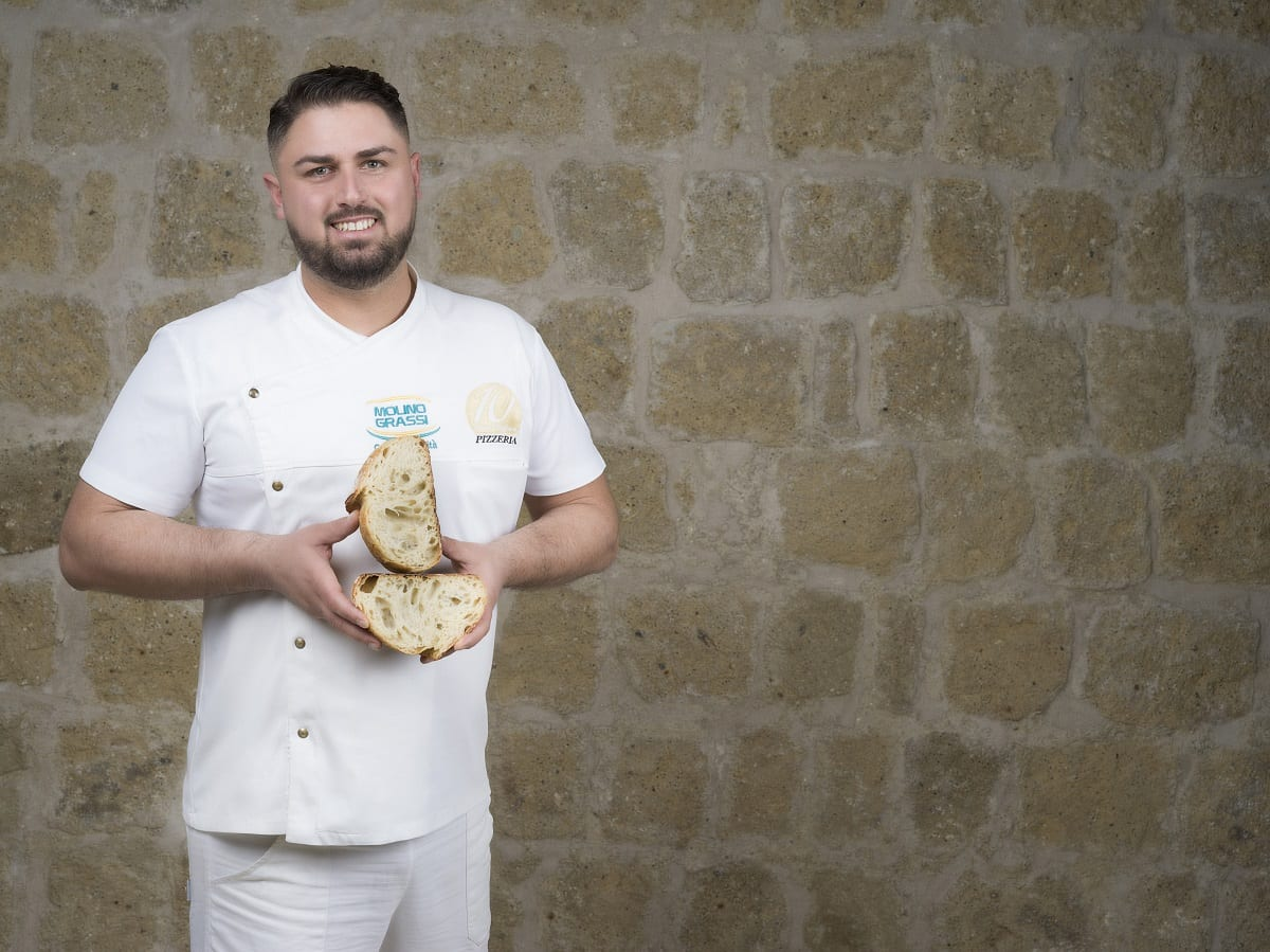 Diego Vitagliano con il suo pane