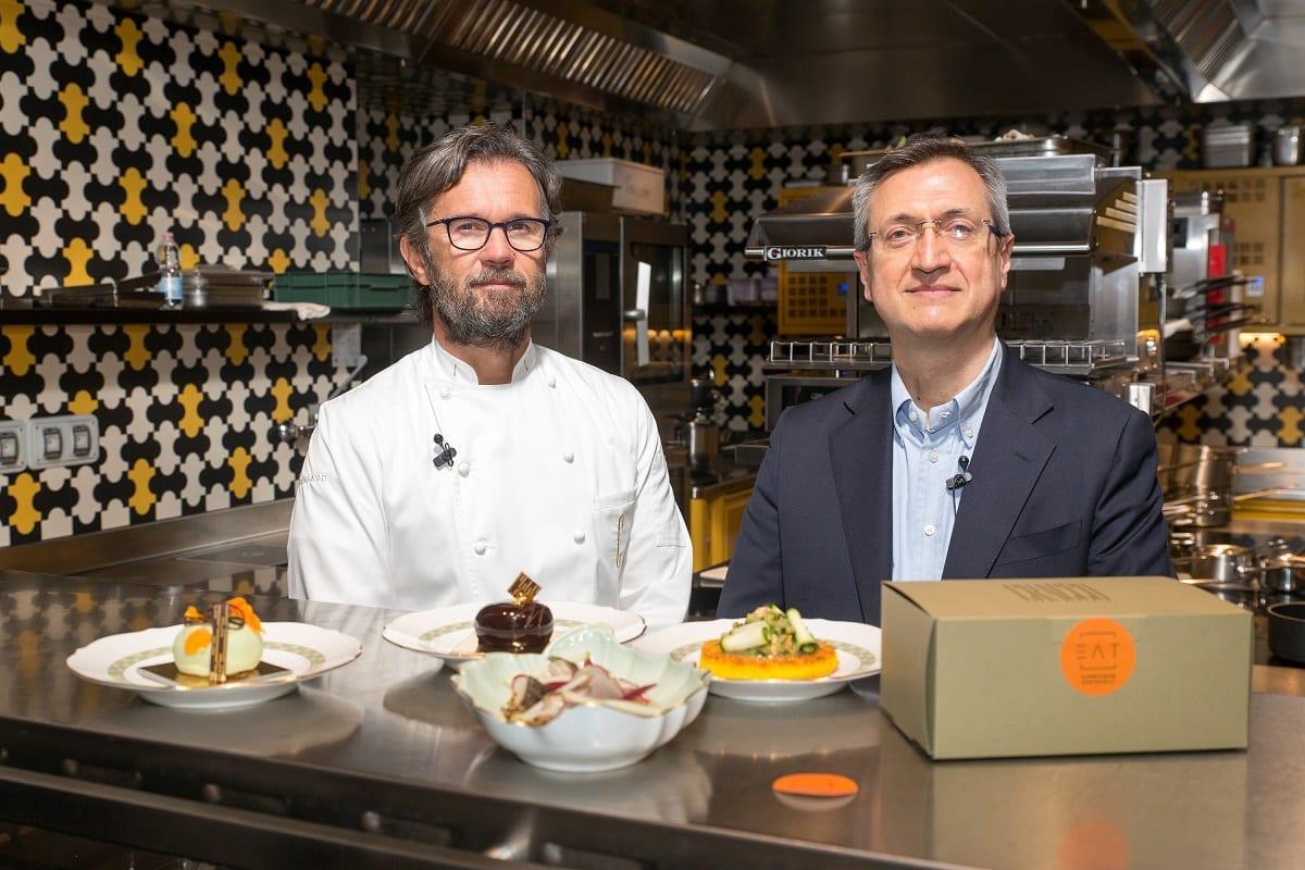 Carlo Cracco con le proposte delivery di Eat with Cracco