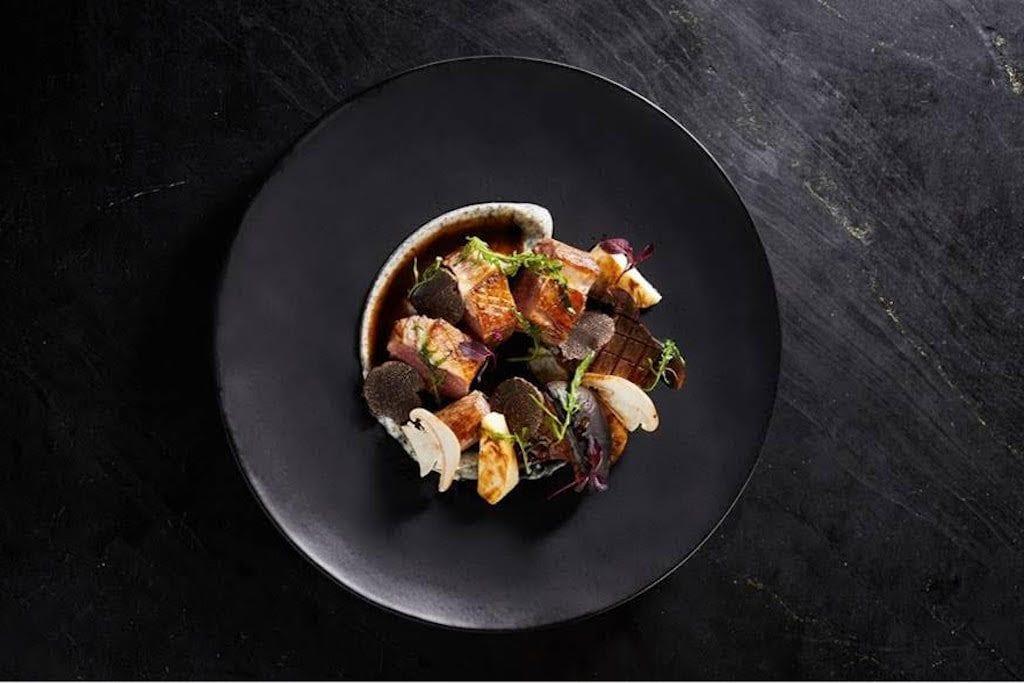 piatto di antonio corsaro del ristorante la scala di shanghai