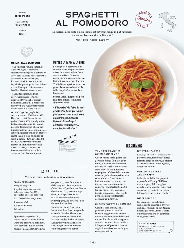 On va déguster l'Italie spaghetti al pomodoro