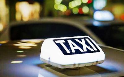 La luce di un taxi