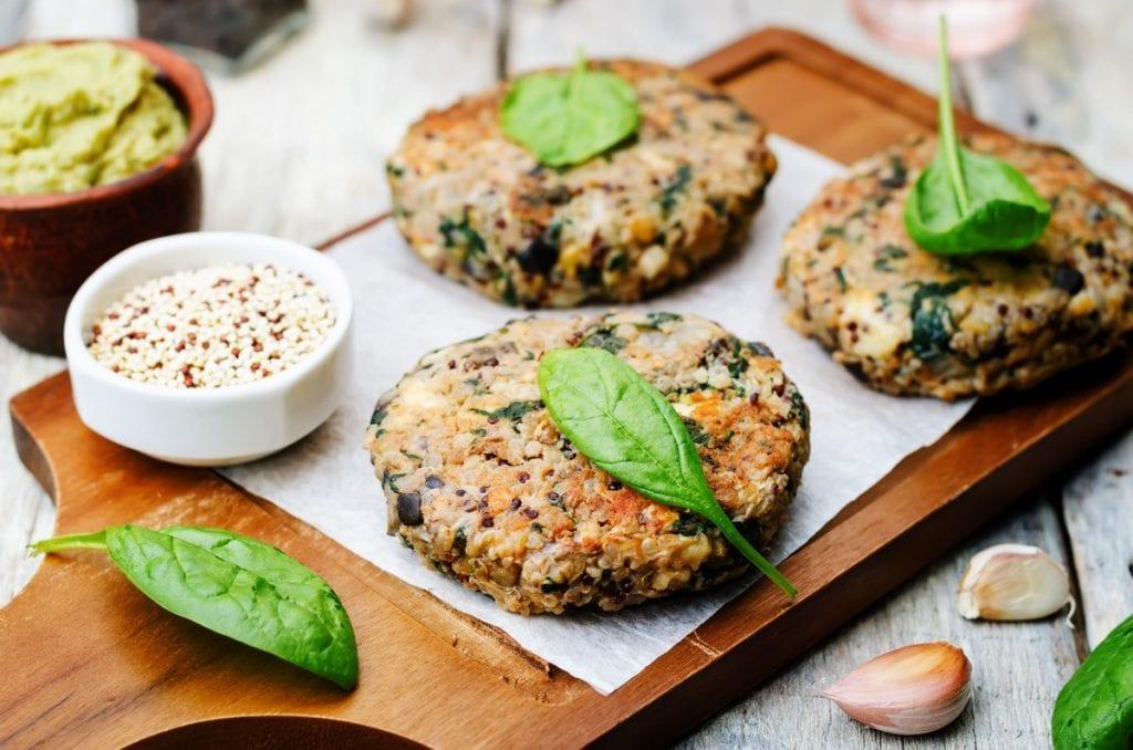 hamburger quinoa