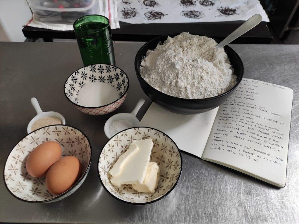 Farina, uova, burro e una ricetta