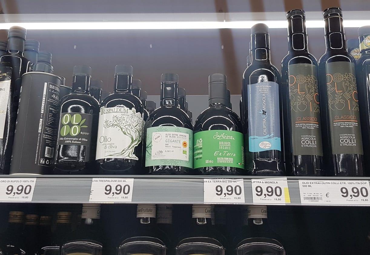 Olio al supermercato