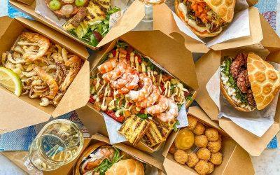 Panini, frittura e insalate di Pescaria