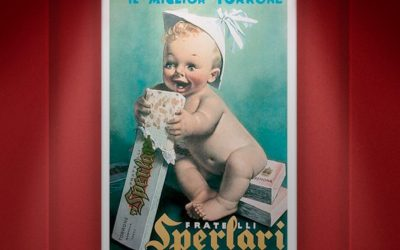 Una locandina pubblicitaria di Sperlari