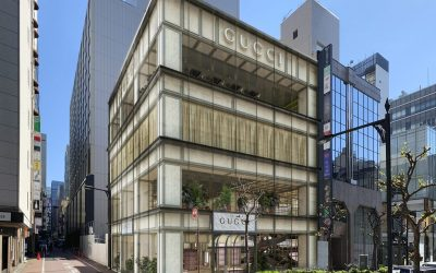 Render di Gucci Namiki a Tokyo