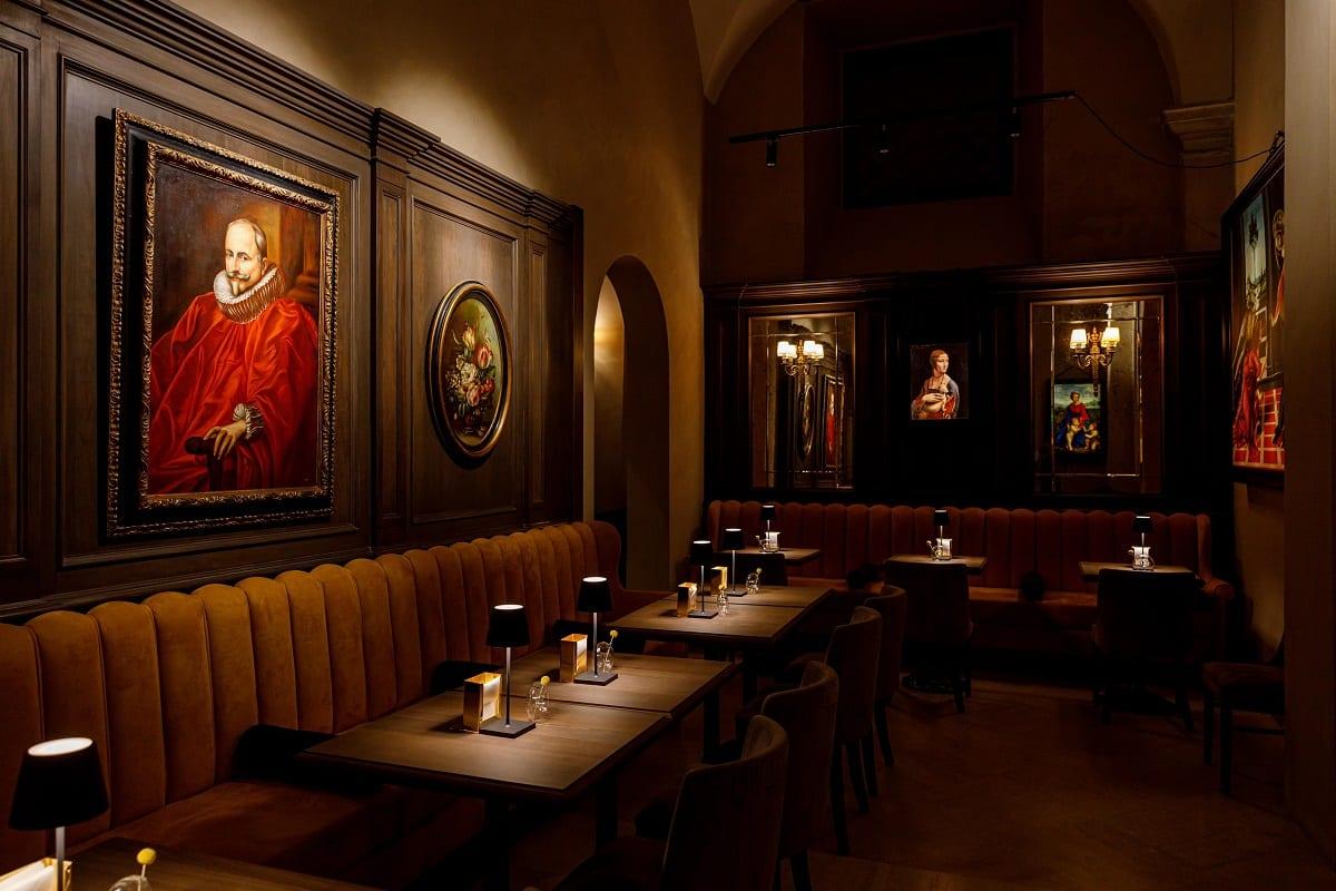 La sala del bistrot al Caffè Doria